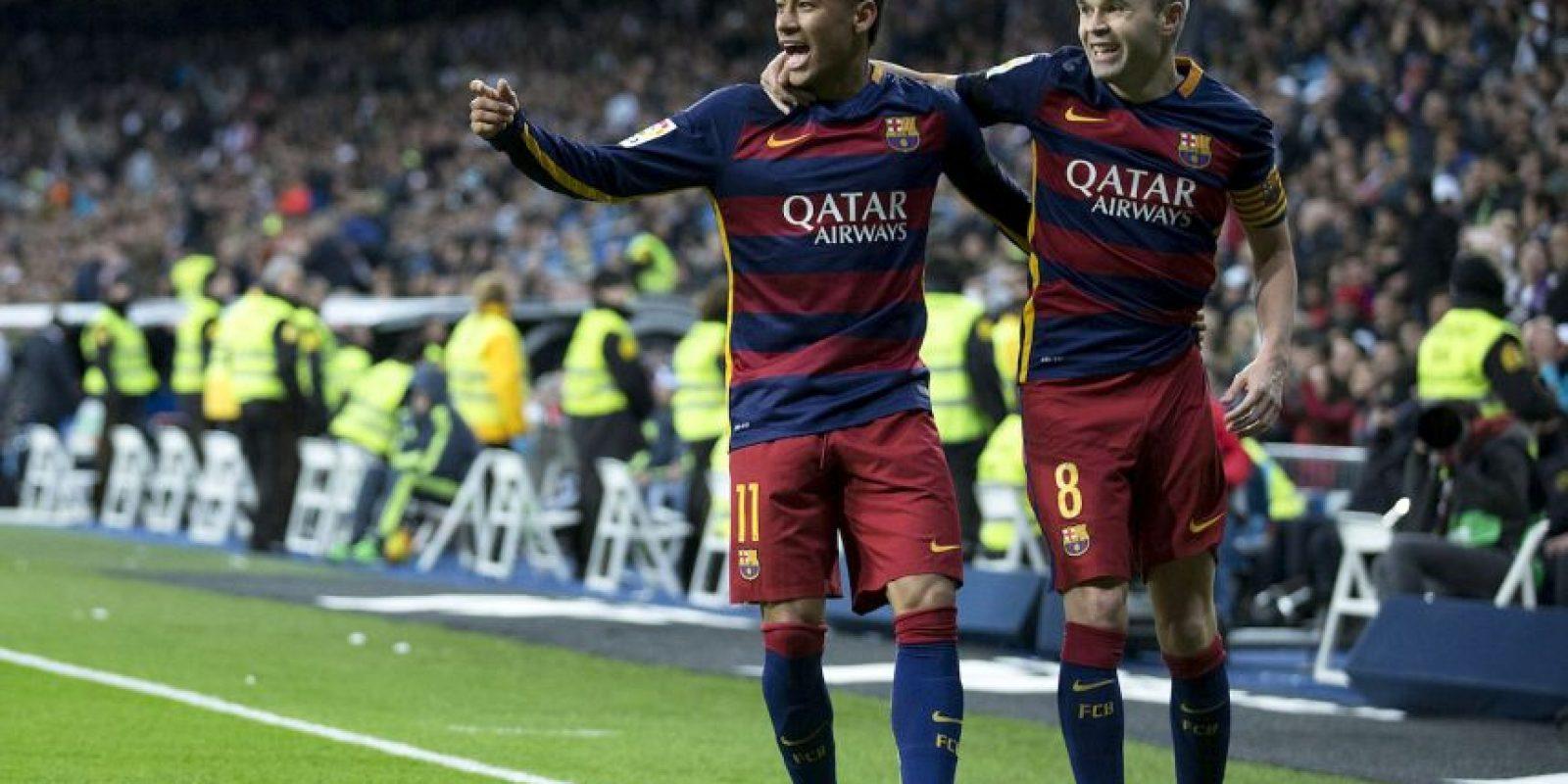 Neymar anotó la segunda diana y puso una gran asistencia para el tanto de Andrés Iniesta Foto:Getty Images