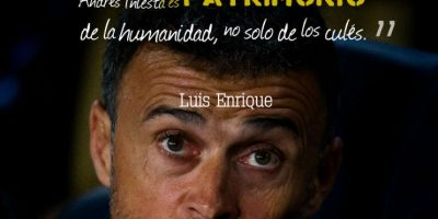 Luis Enrique, DT de Barcelona Foto: Getty Images