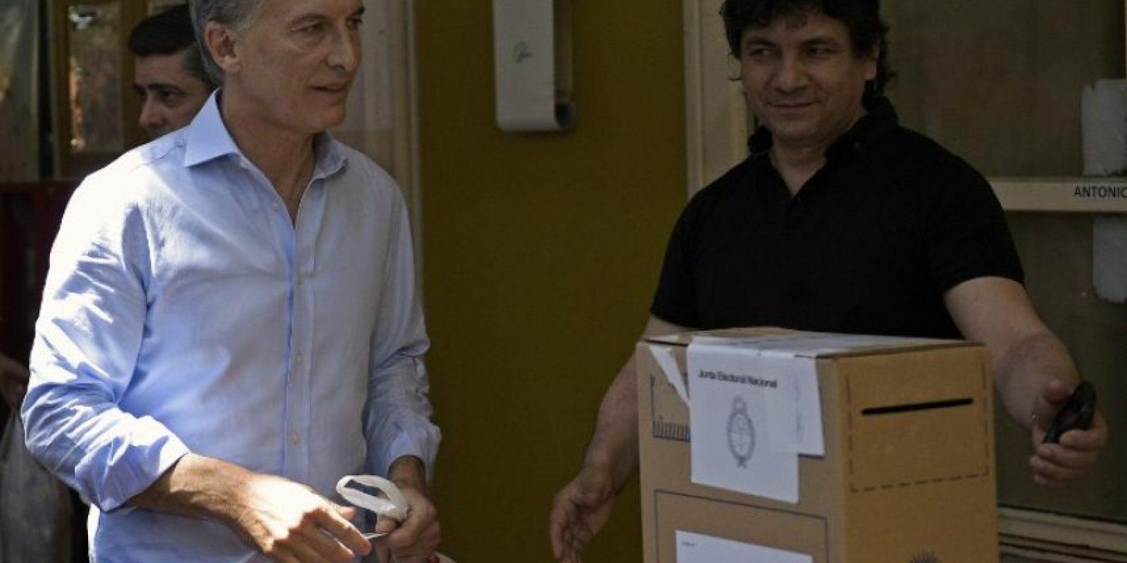 """""""Vamos Argentina, Vamos! Cambiemos, Cambiemos. Vamos todo el mundo!!! Gracias de corazón"""", escribió en redes sociales Foto:AFP"""