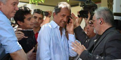 Daniel Scioli es el candidato presidencial del partido Frente para la Victoria Foto:AFP