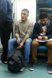 """Y este es el """"doble"""" que encontraron en el metro de Turquía Foto:Twitter.com/satrayni"""