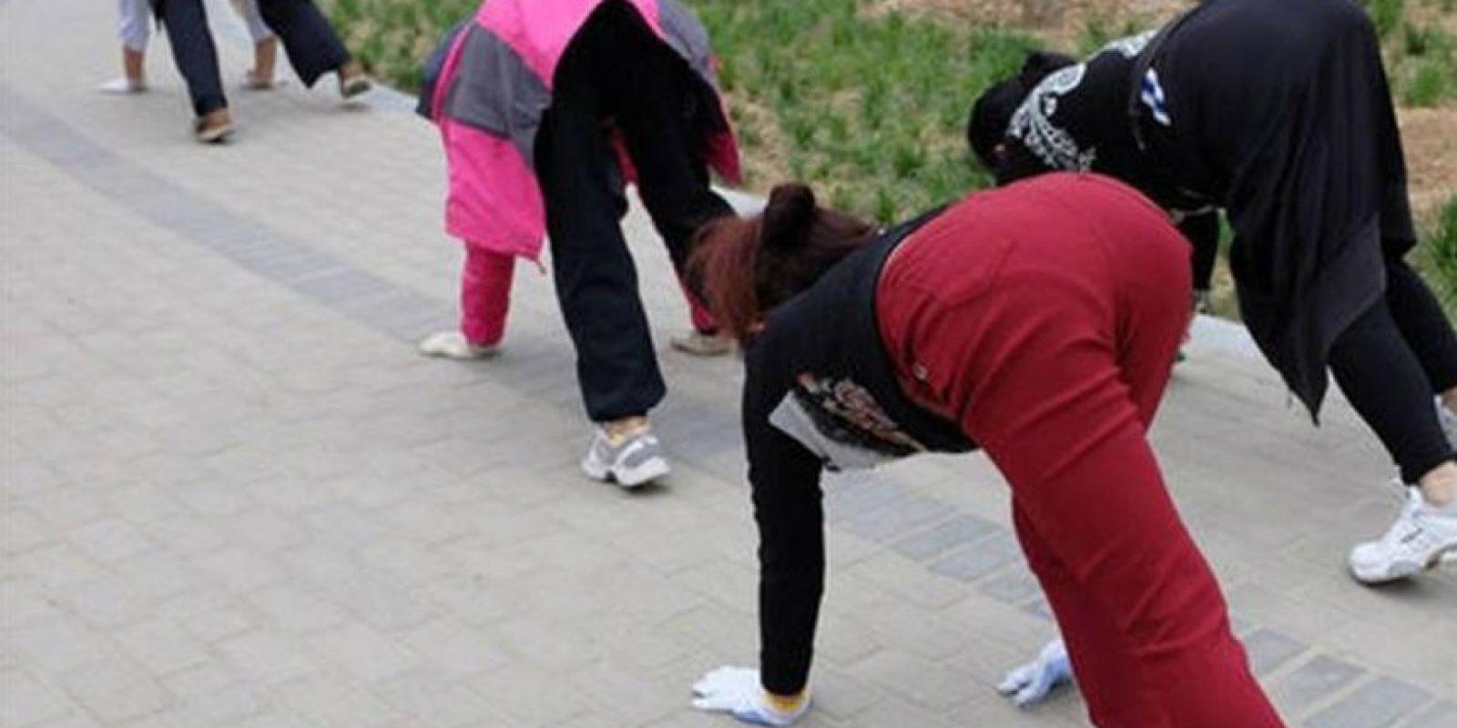 Aquí el ejercicio que se está haciendo viral. Foto:Vía Twitter