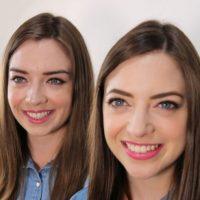 """Esta es su primera """"extraña gemela"""". Foto:Vía Twin Strangers"""