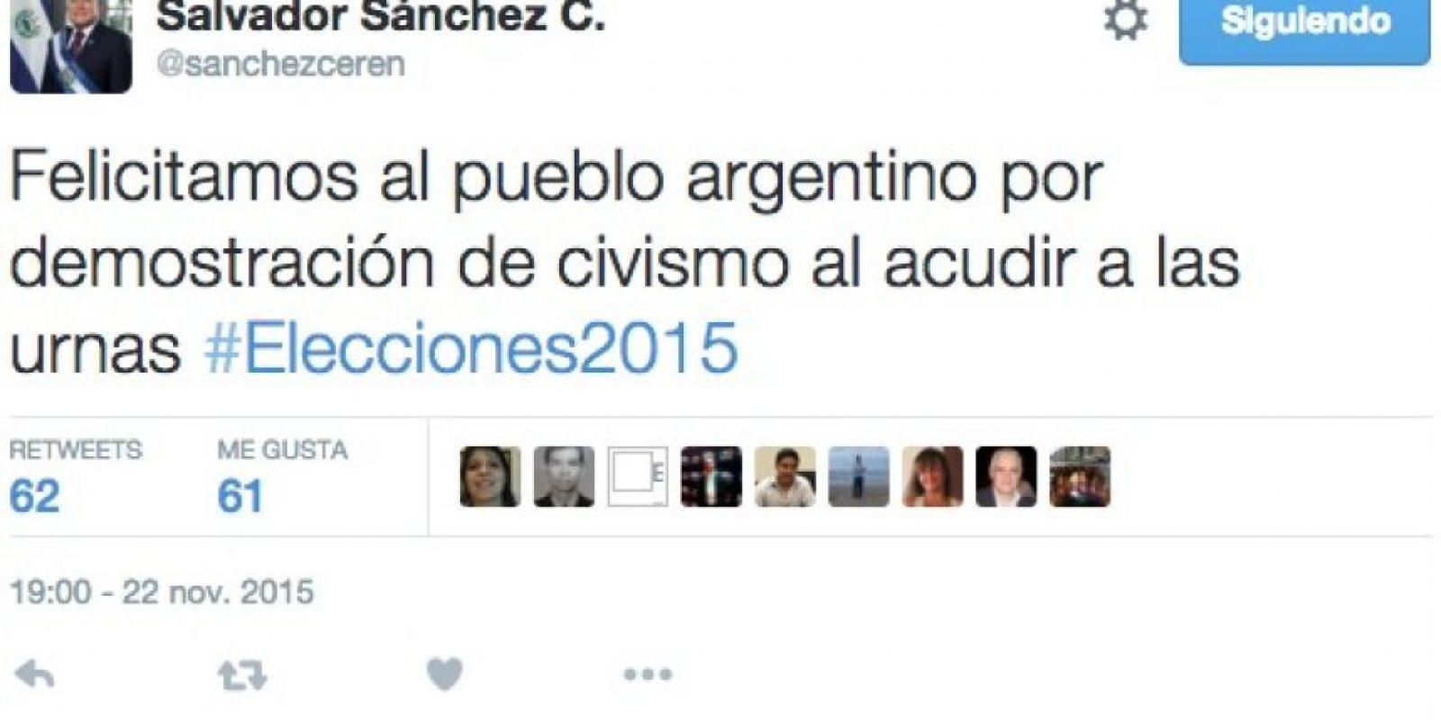 Salvador Sánchez Cerén, presidente de Honduras Foto:Twitter.com