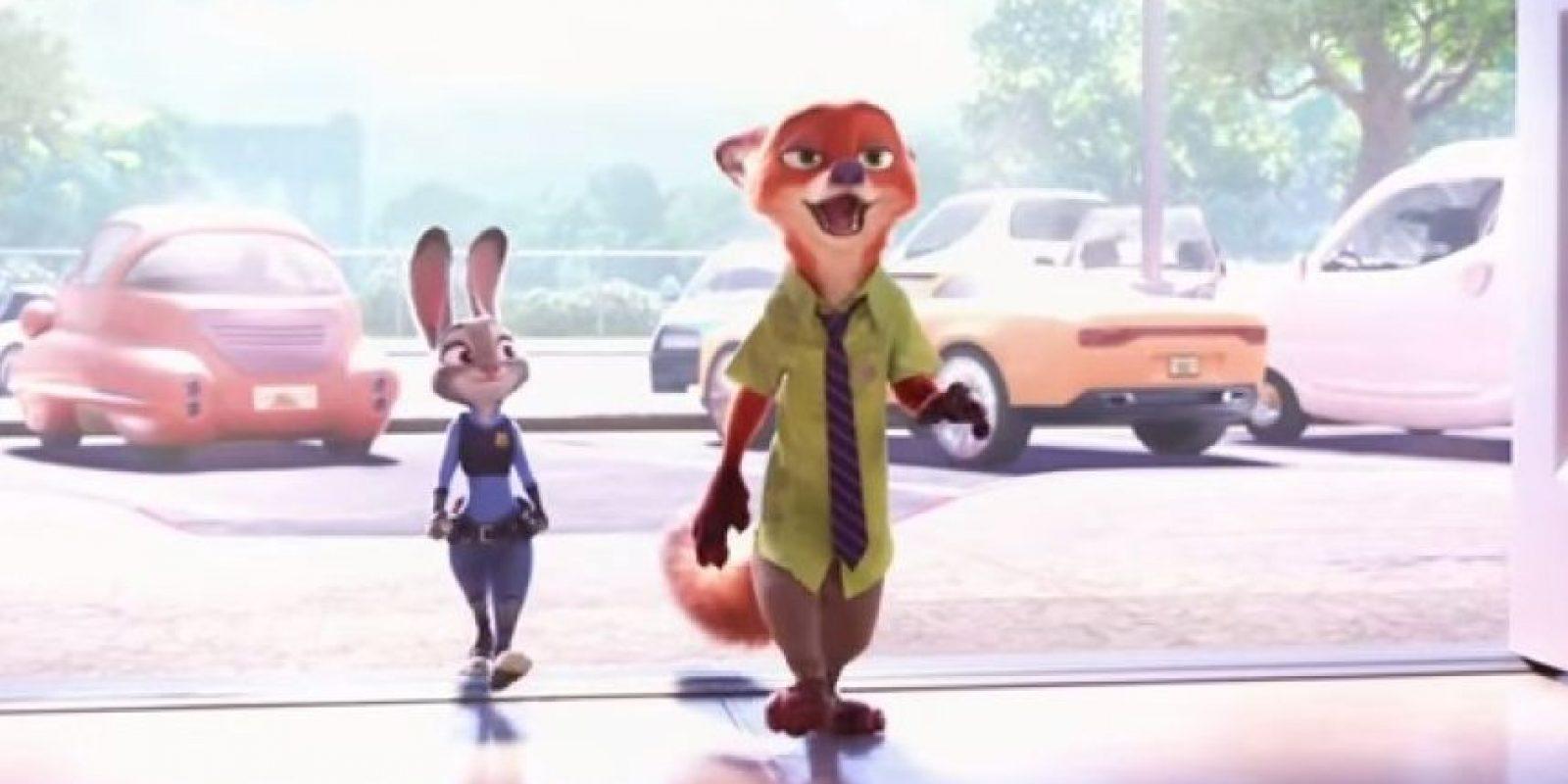 """Los personajes centrales serán un extrovertido zorro llamado """"Nick Wilde"""" y """"Judy Hoops"""", una policía novata. Foto:Disney"""