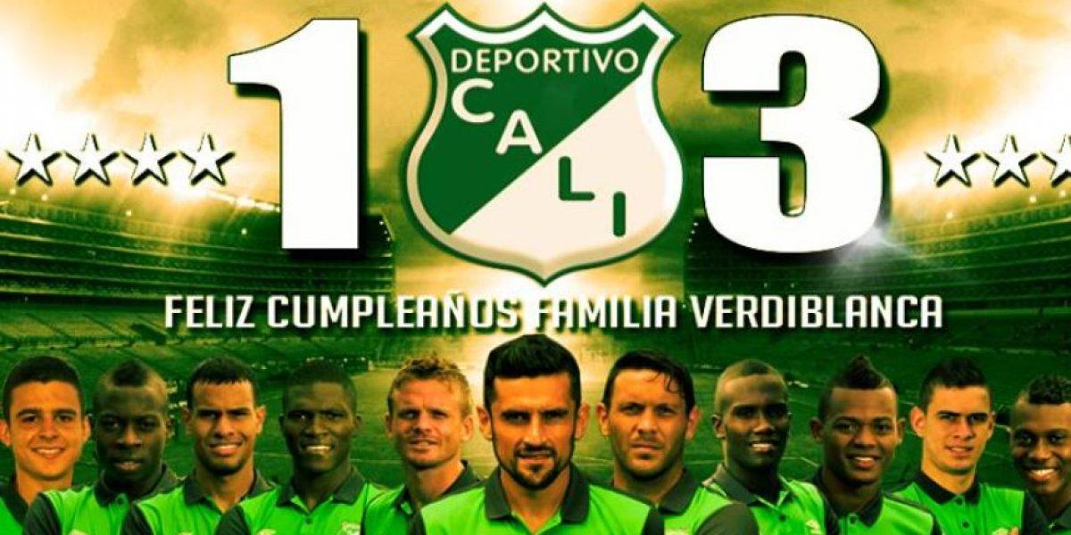 Hinchas le celebraron el cumpleaños 103 al Deportivo Cali en redes sociales