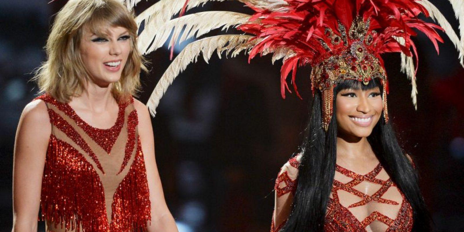 Taylor Swift y Nicki Minaj protagonizaron una descomunal pelea en las redes sociales por las nominaciones de los MTV VMAs 2015. Foto:Getty Images