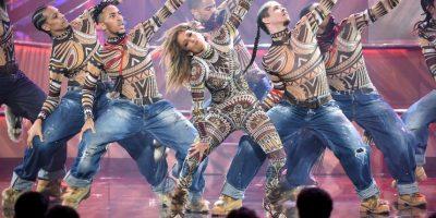 """JLo interpretó """"Anaconda"""" de Nicki Minaj, pero todo indicó que a la trinitense no le gustó la actuación de la cantante latina. Foto:Getty Images"""