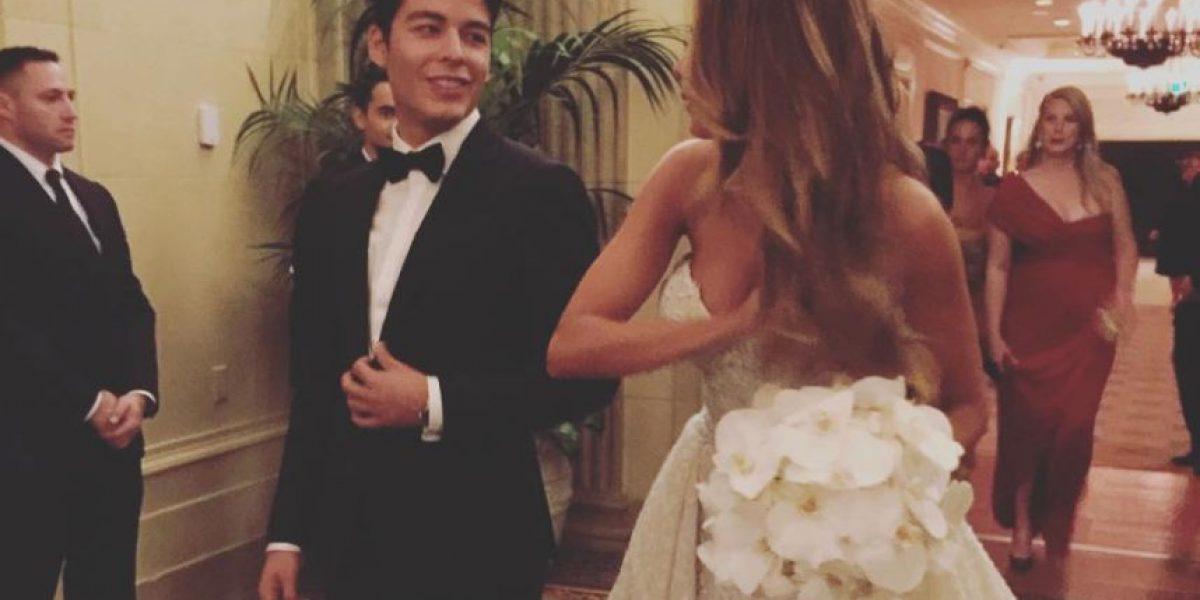 Así se veía vestida de novia la actriz Sofía Vergara