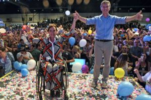 representando al partido político cambiemos. Foto:AFP