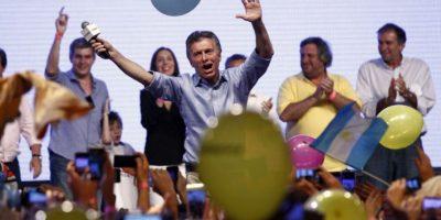 Este domingo el candidato Mauricio Macri ganó las elecciones. Foto:AFP