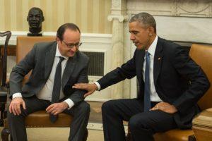 La reunión entre Francois Hollande y Barack Obama se realizó en la Casa Blanca. Foto:AFP