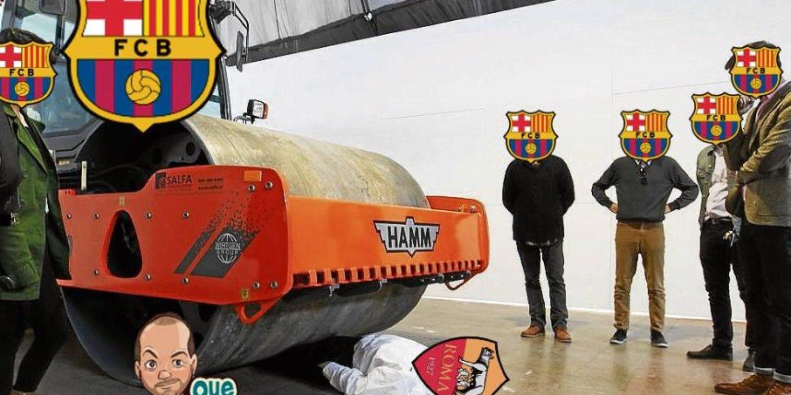 Y Barcelona destrozó a la Roma… Foto:Twitter