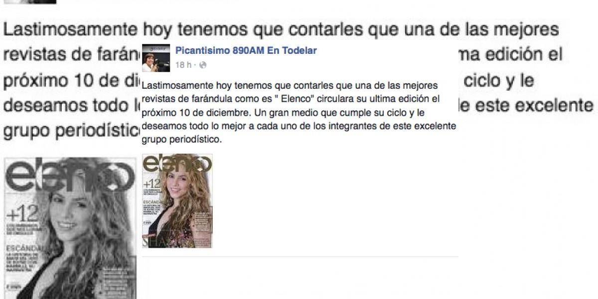 Negra Candela confirma el cierre de una revista de farándula en Colombia