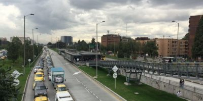 Cierran estación de TransMilenio por protestas en la Universidad Nacional Foto:Publimetro