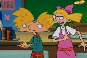 """3. La relación amor-odio de """"Helga"""" con """"Arnold"""" Foto:Nickelodeon"""