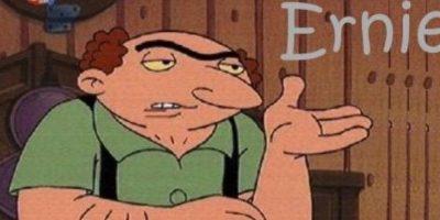 """12. """"Ernie"""", el inquilino que trabaja como demoledor y colecciona los ladrillos de los edificios que destruyó. Foto:Nickelodeon"""