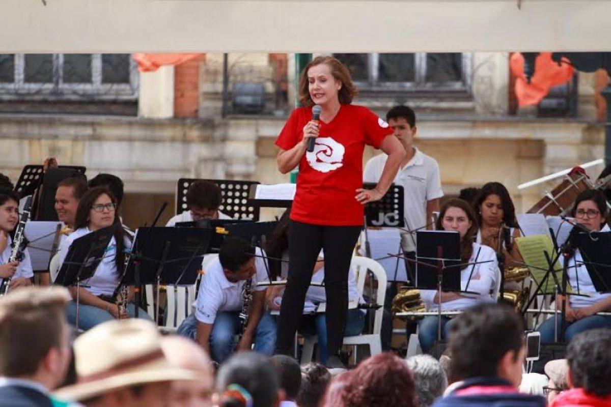 Alejandra Borrero dando apertura al evento Foto:Juan Pablo Pino/Publimetro