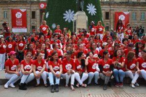 Grupo de mujeres colombianas y francesas Foto:Juan Pablo Pino/Publimetro