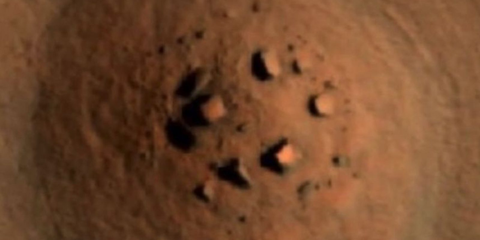 """Una formación como """"Stonehenge"""" Foto:NASA"""
