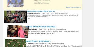 """3- YouTube puede hacerlos reír. Una vez en la página principal, ingresen la búsqueda """"do the Harlem Shake"""" y vean a la plataforma de videos como nunca la habían visto. Foto:Google"""
