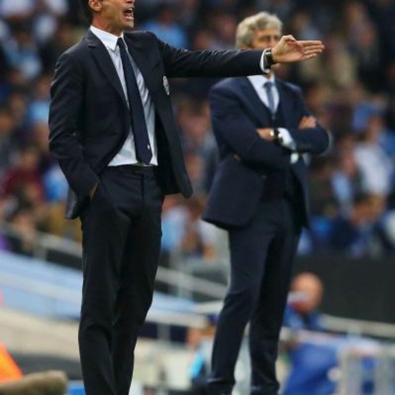 En la tribuna se enfrentan los técnicos Massimilano Allegri y Manuel Pellegrini Foto:Getty Images