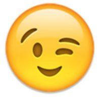 Rostro con guiñando un ojo. Foto:vía emojipedia.org