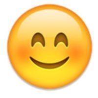 Rostro con los cachetes sonrojados. Foto:vía emojipedia.org