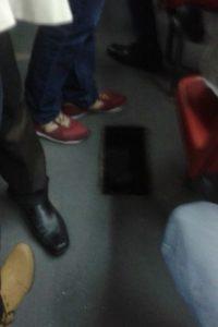 Ya hay huecos dentro de los buses de TM Foto:Transmileniada Fotográficas Facebook