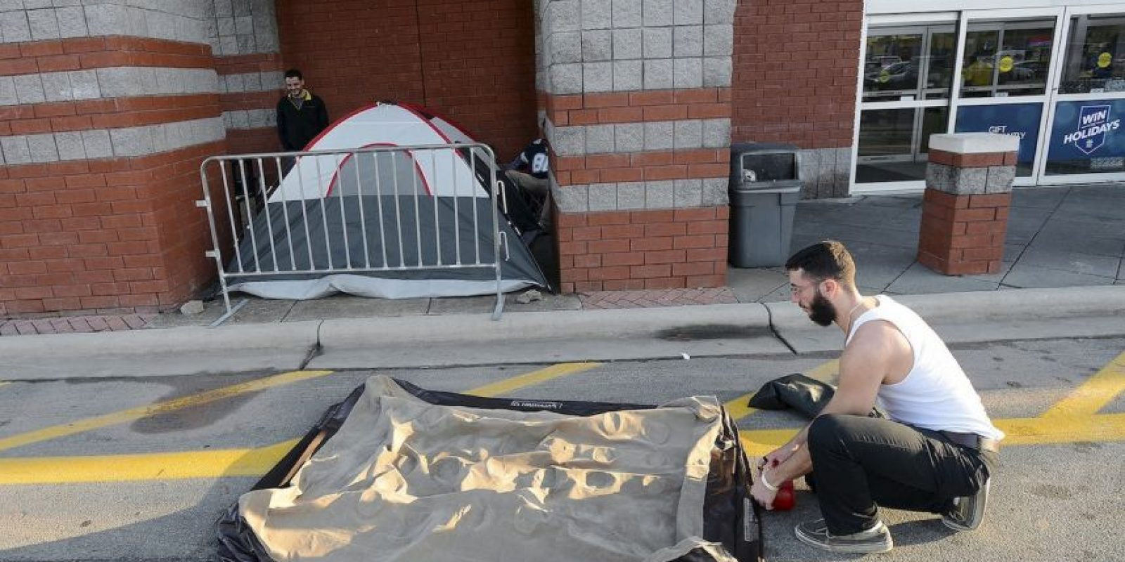 Incluso, tuvieron que acampar Foto:AP