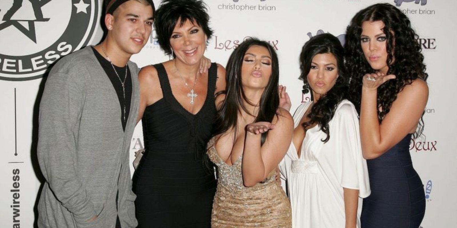 Sin embargo, Rob Kardashian fue el gran ausente en las celebraciones. Foto:Getty Images