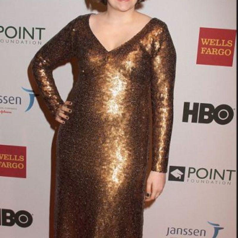 En este vestido Marc Jacobs no se le veía la figura en ningún lado. Foto:vía Getty Images