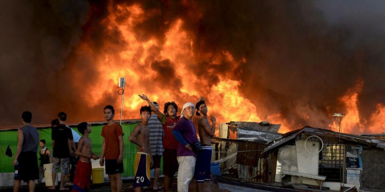Incendio en Manila, Filipinas. Foto:AFP