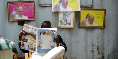 Así esperaron al papa en Kenia. Foto:AFP