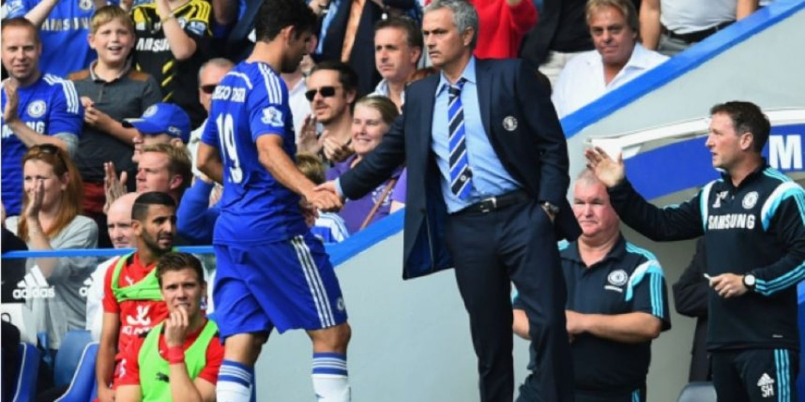 Diego Costa se enojó con José Mourinho. Foto:Getty Images