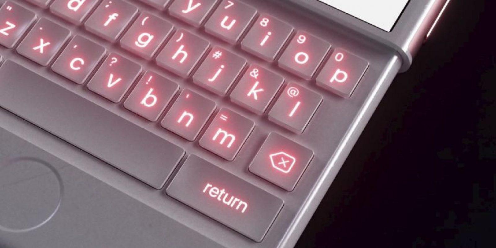 Este sería el teclado del iPhone oro rosado. Foto: vía Curved / YouTube