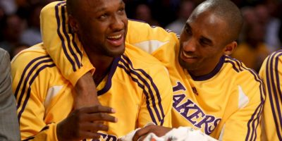 2008, con Lamar Odom Foto: Getty Images