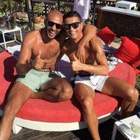 Con la finalidad de ver a su amigo, el kick boxer Badr Hari Foto:Vía instagram.com/cristiano