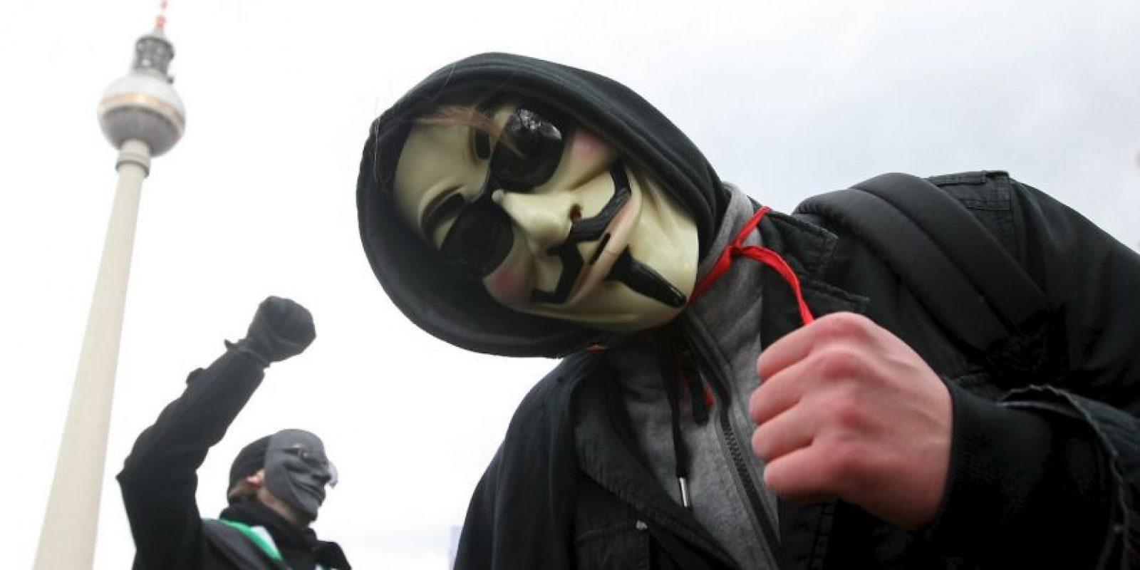 En 2011 el grupo fue parte de las protestas Ocupa Wall Street se infiltró en la web de la NYSE que estuvo sin funcionar algunos minutos. Foto:Getty Images