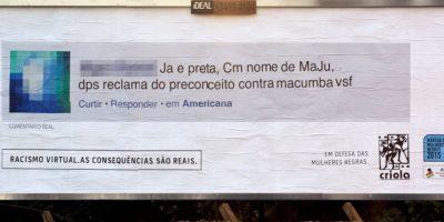 Los rostros y nombres de los autores son difuminados. Foto:racismovirtual.com.br/