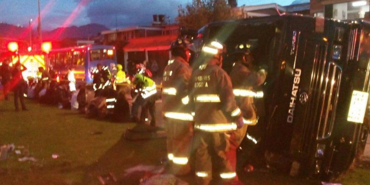 Accidente en el occidente de Bogotá deja 19 lesionados