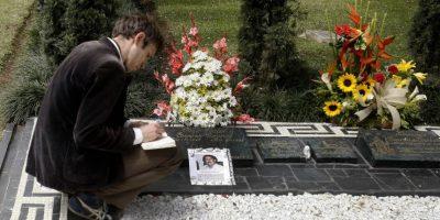 La tumba de Pablo Escobar, a 22 años de su muerte Foto:Archivo EFE