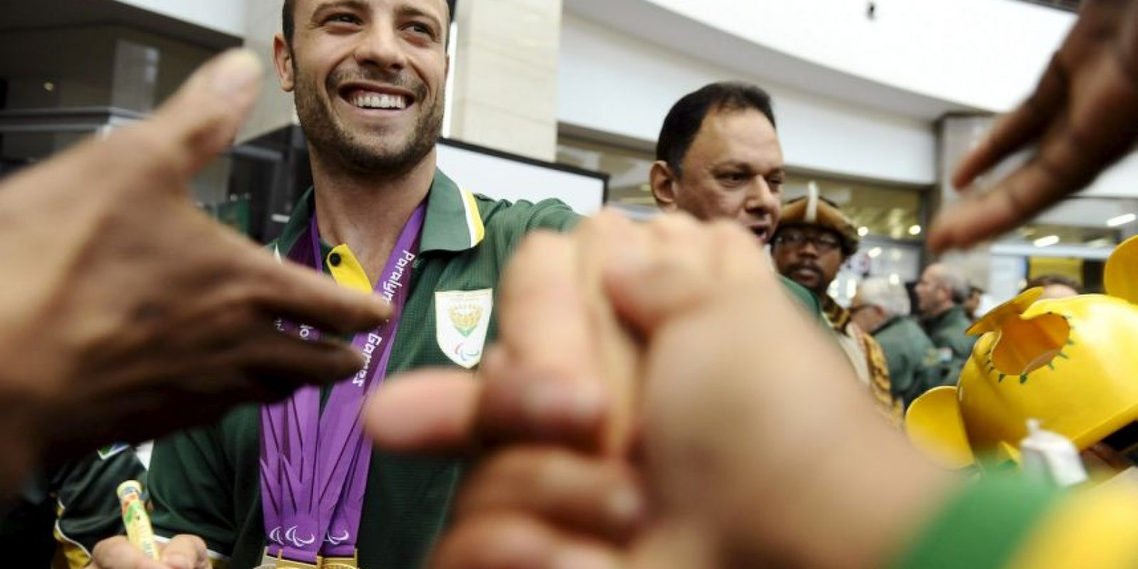 Medalla de Oro en la competencia de 400 metros para hombres, en los Juegos Paralímpicos de Londres, 2012 Foto:Getty Images