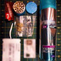 Marihuana dentro de un bote de aerosol. Foto:Vía Instagram.com/tsa
