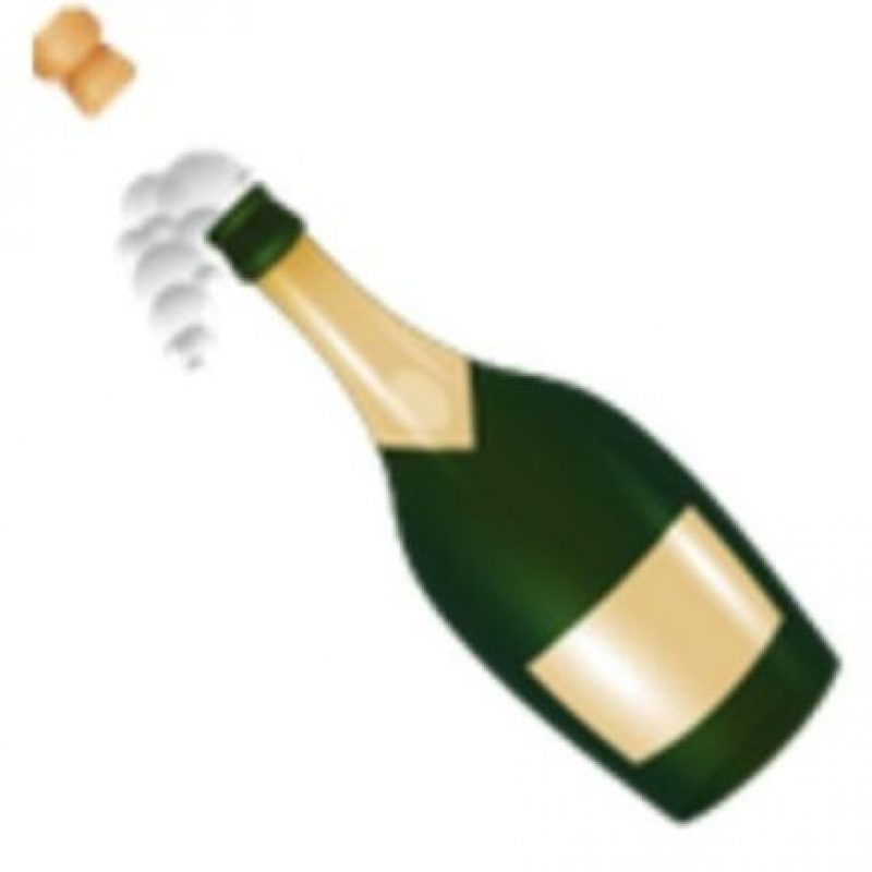 Champagne. Foto:vía emojipedia.org