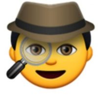 Detective con lupa. Foto:vía emojipedia.org