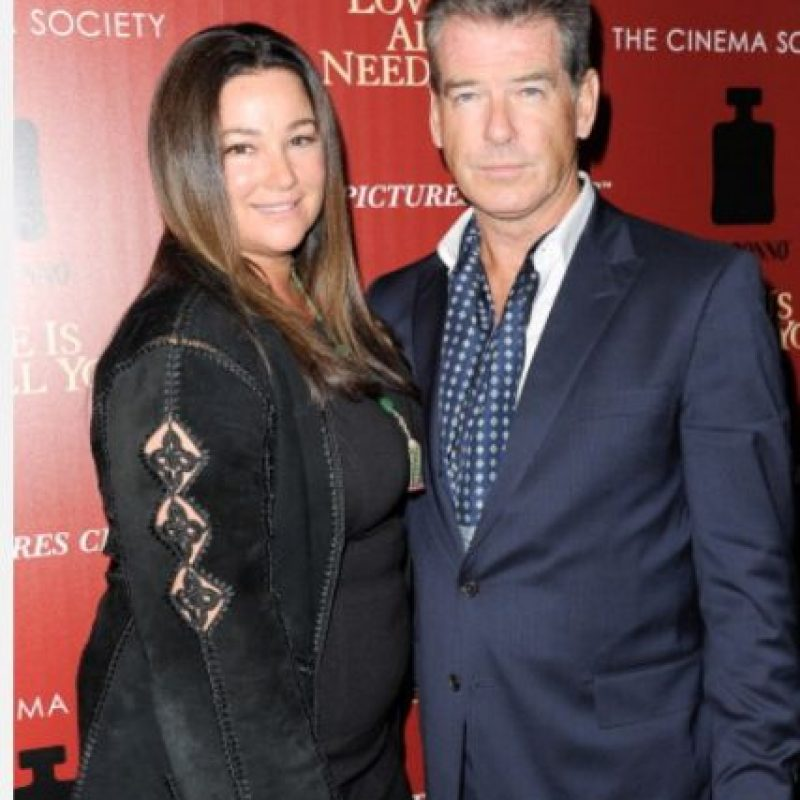 Pierce Brosnan está casado con Keely Shaye Smith desde 2001. Foto: vía Getty Images