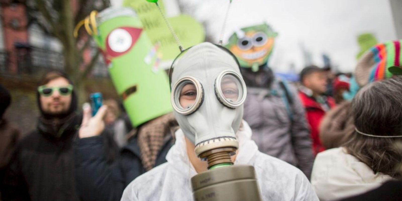 Manifestación por el cambio climático en Alemania. Foto:AFP