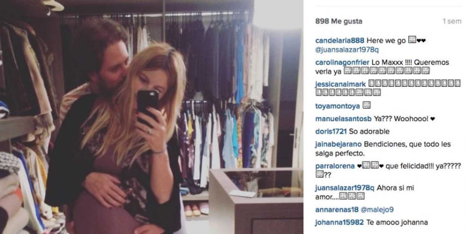 Foto:Instagram Johana Bahamón @candelaria888