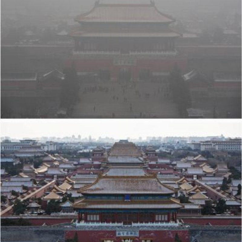 Las imágenes tienen una diferencia de 24 horas Foto:Getty Images